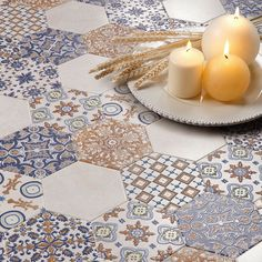 Create an interesting patterned floor space in your living area, bedroom or bathroom with our decorative Affaire Hexagon Tiles... https://www.wallsandfloors.co.uk/catrangetiles/hexagon-tiles/affaire-hexagon-tiles/elegance-hexagon-tiles/21327/