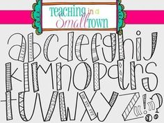 This alpha set includes two sets 26 hand drawn letters and 5 punctuation marks. The first set is a clear fill while the Doodle Alphabet, Hand Lettering Alphabet, Calligraphy Letters, Fun Fonts Alphabet, Handwriting Fonts Alphabet, Cool Handwriting, Bubble Letter Fonts, Doodle Art Letters, Drawing Letters