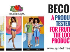 Become a Product Tester for Fruit of the Loom Products