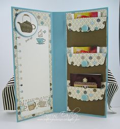 tea bag holder--- this would be a good card to send to my chemo angel!