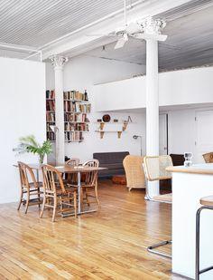 Loft Sight Unseen Mezzanine Kitchen Dinning Room Studio Home Deco