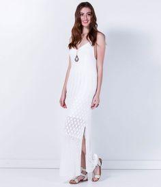 Vestido feminino  Modelo longo  Marca: Marfinno  Tecido: retilínea  Composição…