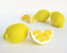 This listing includes 1 toy Lemon whole or slice I suggest you to buy realistic stuffed toys, made of felt for your little ones. For playing the Garden Harvest Kitchen Shop etc. ————————————————————— ♥ unique design, are just like real ♥ small (3,5 in) and light (0,3 oz) ♥ safe for your