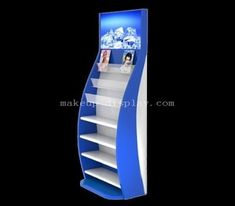 Custom floor standing cosmetic display rack -Factory direct sale