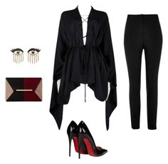 """""""Untitled #152"""" by kduffy-1 on Polyvore featuring Tom Ford, River Island, Christian Louboutin, Dune and Sydney Evan"""