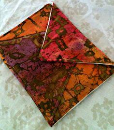 handmade envelope clutch! -$25