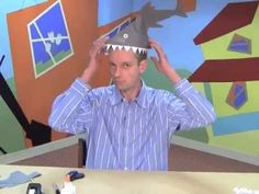 Make a paper shark hat! An easy craft for kids by World Book. Visit our bookstore for more activities for kids: . This World Book video teaches kids how to make a paper shark hat. This is a hands-on crafts activity for kids. Easy Crafts For Kids, Craft Activities For Kids, Toddler Crafts, Diy For Kids, Educational Activities, Kids Fun, Toddler Activities, Crazy Hat Day, Crazy Hats