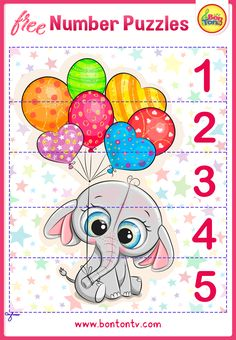 FREE Number Puzzles - Preschool Printables for Kids - Learning Numbers, Counting - Fun Math Activities and Worksheets for Homeschooling by BonTon TV - Besplatne Puzzle za zabavno učenje brojeva od 1 do 10 - Matematika, Brojanje do 10 Free Preschool, Preschool Printables, Preschool Worksheets, Numbers For Kids, Numbers Preschool, Abc Crafts, Fun Math Activities, Number Puzzles, Learning Numbers
