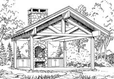 Picnic Shelter plans. How cool to have your own picnic shelter on your property