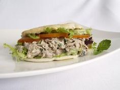 Silver Palate | Tuna Pita Sandwiches featuring Silver Palate Champagne Mustard Splash