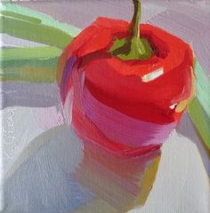 red, red hot, cherry red hot pepper, still life with pepper, sexy food painting