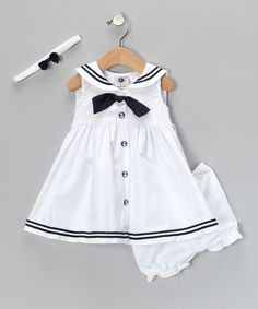 Navy Nautical Dress Set
