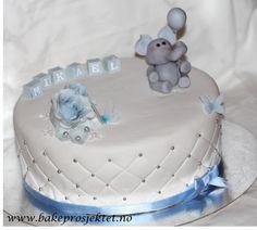 Dåpskake gutt Babyshower, Birthday Cake, Desserts, Food, Pound Cake, Baby Sprinkle Shower, Tailgate Desserts, Birthday Cakes, Postres