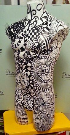 Zentangle Mannequin: