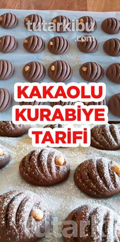 Cocoa Cookie Recipe Source by tutarkibu Turkey Cake, Cocoa Cookies, Turkish Recipes, Biscuit Recipe, Kakao, Gingerbread Cookies, Cookie Recipes, Muffin, Food And Drink