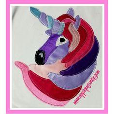 All Girls :: Calico Unicorn Applique Design