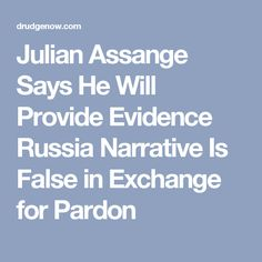 Julian Assange Says He Will Provide Evidence Russia Narrative Is False in Exchange for Pardon