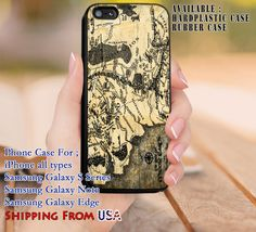 Lord of The Rings Map iPhone 6s 6 6s  5c 5s Cases Samsung Galaxy s5 s6 Edge  NOTE 5 4 3 #movie #TheLordofTheRings dl8