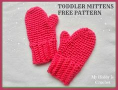 Crochet mittens for toddler- free pattern with step by step tutorial