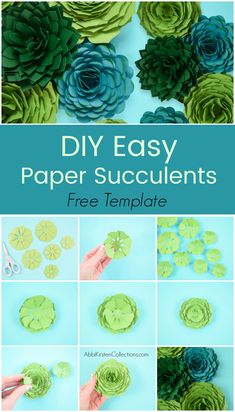 The right way to make paper succulents. Step-by-step paper succulent flower tutorial. Obtain your free paper succulent templates right here. Printable PDF recordsdata and SVG minimize recordsdata included. Free Paper Flower Templates, Felt Flower Template, Paper Flower Tutorial, Templates Printable Free, Large Paper Flowers, Tissue Paper Flowers, Diy Flowers, Flower Paper, Felt Flowers