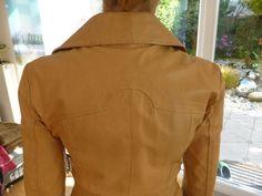VERO MODA Leder Mantel Vintage, Größe M bzw. 38 (D), sandbraun | eBay