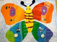 First grade Eric Carle-inspired (Zilker Elementary Art Class)