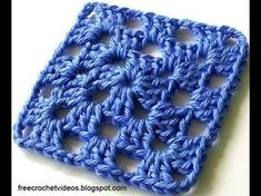 Classic Easy Granny Square in One Color - the only granny square I have been able to complete!
