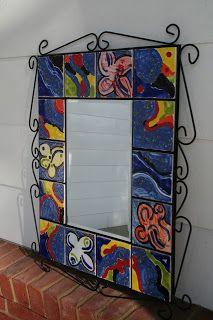 Kim & Karen: 2 Soul Sisters (Art Education Blog): Ceramic Tile Mirror - School Auction