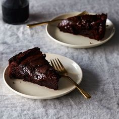 This Flourless, Molten-ish Chocolate Cake That Will Not Sabotage You on Food52 *1/2	pound bittersweet or semisweet chocolate, coarsely chopped 1/2	pound (2 sticks) unsalted butter 3/4	cup unsweetened cocoa powder 1	pinch salt 7	large eggs, separated 1 1/3	cups sugar, separated