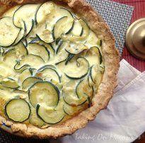 Zucchini and Caramelized Onion Quiche