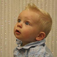 Cute baby boy hair cut