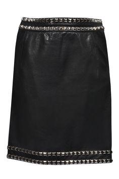 #Moschino #skirt #leatherskirt #rivet  #vintagestyle #fashionblogger #Designer #clothes #onlineshopping #secondhandshop #mode #mymint