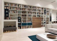 Moderne Wohnwand weiß holz gruber schlager