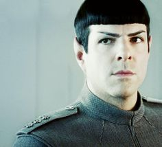 Zachary Quinto as Spock in STID. Love that look.
