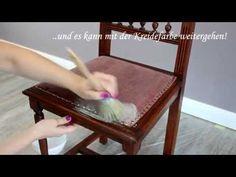 Stoffe mit Kreidefarbe anmalen - Der Test - YouTube