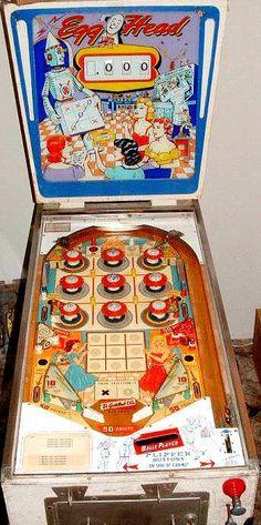 1961 Gottlieb Egg Head Pinball Machine