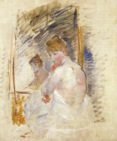 Getting out of Bed by @artistmorisot #impressionism
