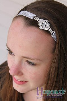 Clear Rhinestone Stretch Headband-Rhinestone by HomemadeTrends