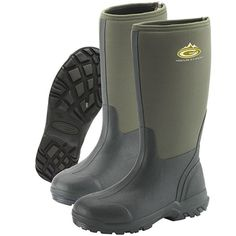 Grubs Frostline Sport 8.5 Wellington Boots In Green are great for those outdoor adventures.