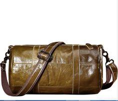 SEALINF Mens Leather Travel Weekend Duffle Bag Messenger Satchel Shoulder Bag retro green >>> Learn more by visiting the image link. Cowhide Leather, Leather Men, Ipad Bag, Satchel, Crossbody Bag, Vintage Handbags, Large Bags, Vintage Men, Vintage Fashion