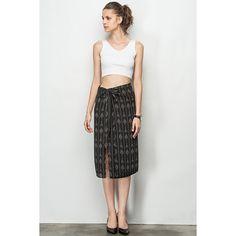 Bohemian Side Split Pattern Skirt