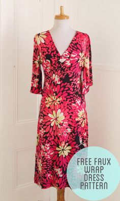 The first Free Wrap Dress Pattern from CraftHabit.com!