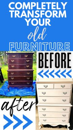 Restoring Furniture, Furniture Makeover, Old Dressers, Décor Ideas, Home Hacks, Chalk Paint, Painted Furniture, Home Improvement, Bob