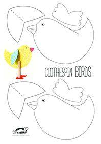CLOTHESPIN BIRDS | krokotak