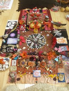 Wiccan Alter with Divination and oracles.