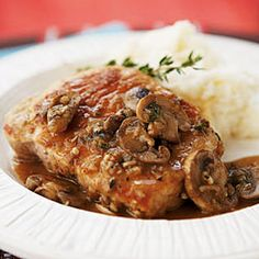 25 Healthy Pork Chop Recipes | Pork Chops Marsala | CookingLight.com