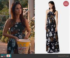 Zoe's floral maxi dress on Hart of Dixie.  Outfit Details: https://wornontv.net/44074/ #HartofDixie