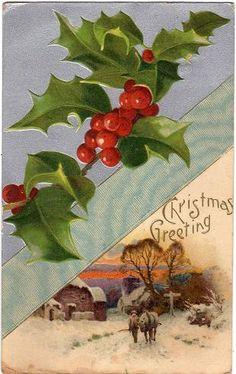 Vintage postcard advent calendar - December 18th   Vintage Postcards.