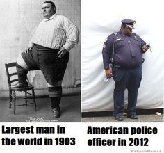 Largest man in the world 1903, Cop 2012