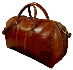 Amazon.com: AUTHENTIC VINTAGE VALOR ITALIAN LEATHER BROWN DUFFLE DUFFEL TRAVEL BAG WEEKENDER (VV100BRN): Office Products